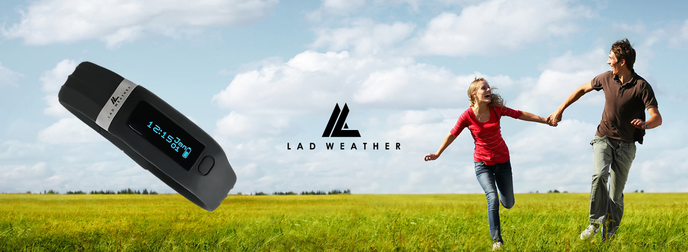 running and jog with LADWEATHER watch